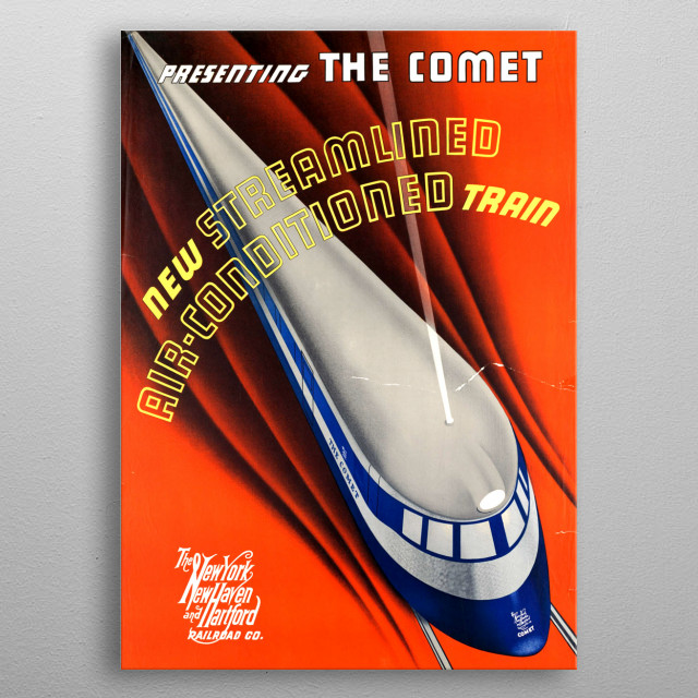High-quality metal print from amazing Vintage Travel collection will bring unique style to your space and will show off your personality. metal poster