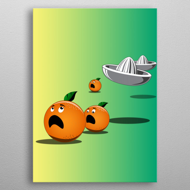 The escape of the oranges metal poster