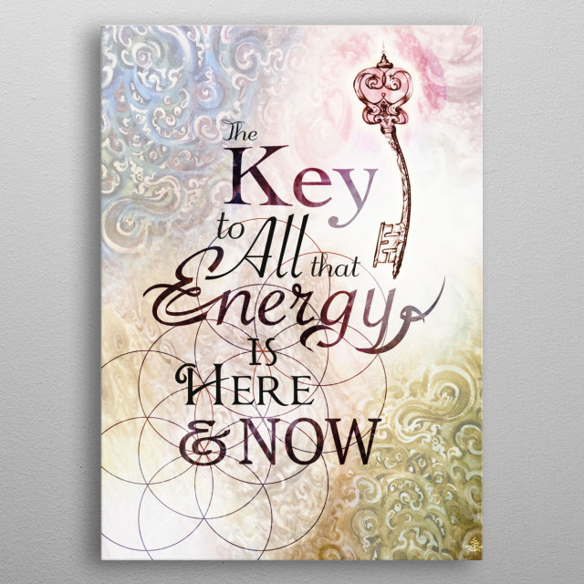 The Key .. is .. #mixed #type #illustration #painting #quote metal poster