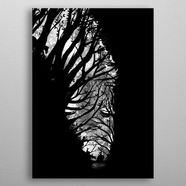 Nature Stripes metal poster