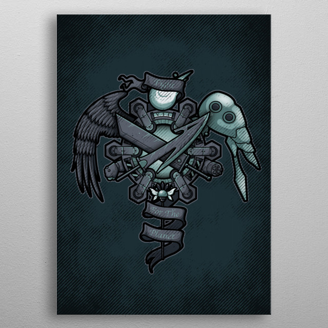 This marvelous metal poster designed by letterq to add authenticity to your place. Display your passion to the whole world. metal poster