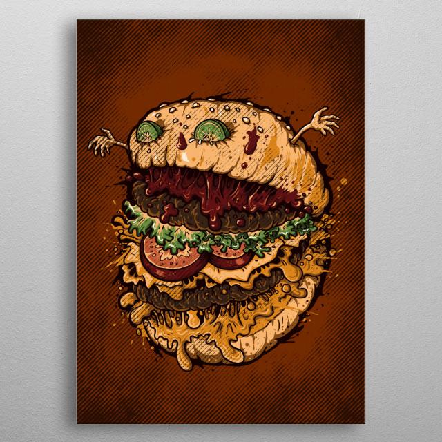 Monster Burger metal poster
