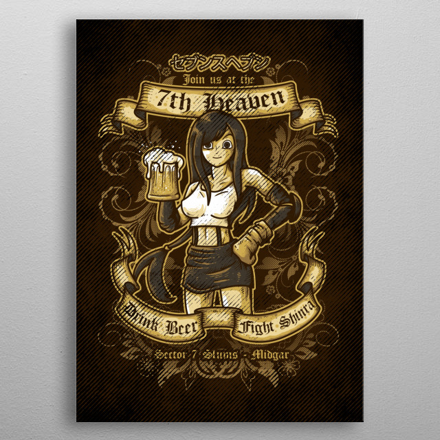 7th Heaven Tavern metal poster