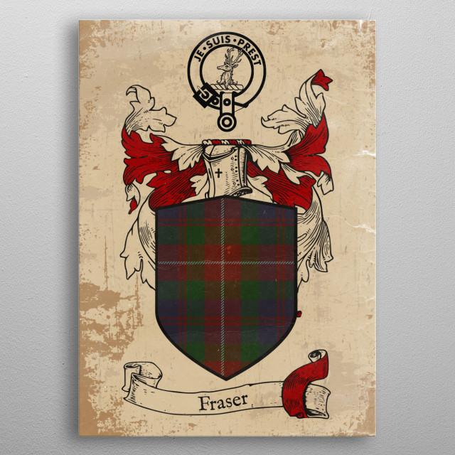 Clan Fraser metal poster