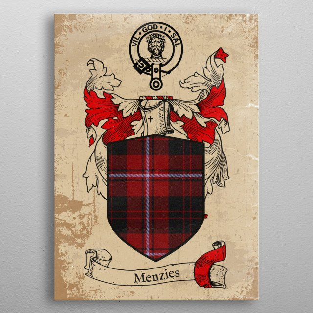 Clan Menzies metal poster