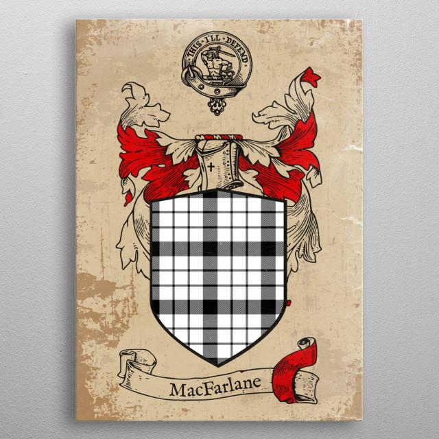 Clan MacFarlane metal poster