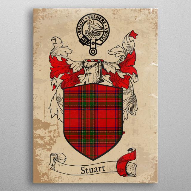 Clan Stuart metal poster