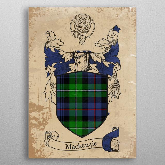 Clan Mackenzie metal poster