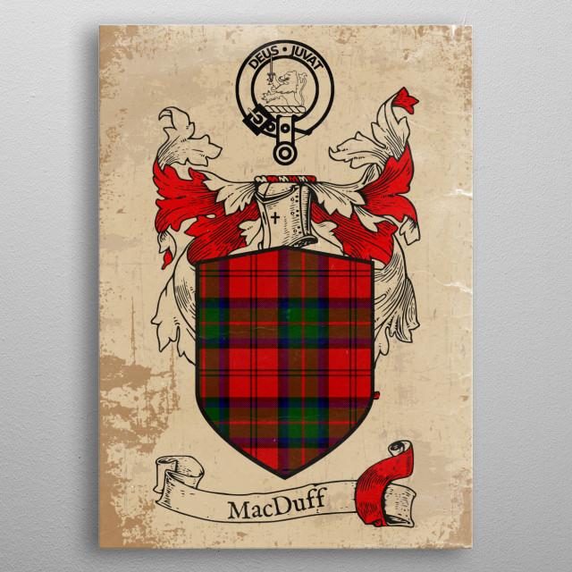 Clan MacDuff metal poster