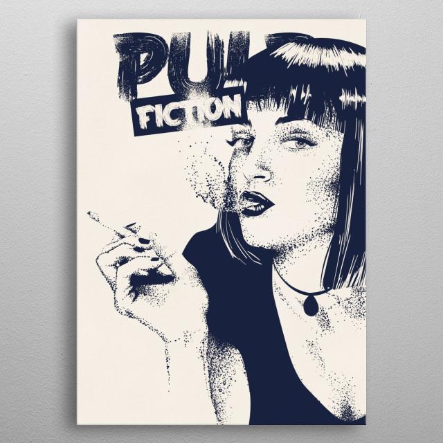 Pulp Fiction - Dotwork altvernative movie poster metal poster