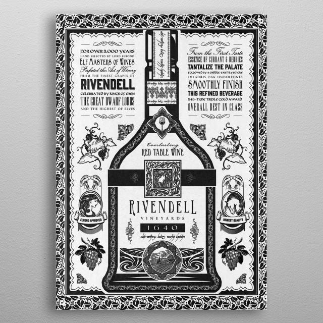 A vintage Wine Victorian/Art Nouveau  metal poster