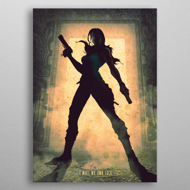 Archaeologist metal poster