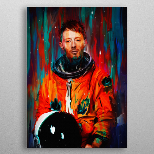 Thom Yorke metal poster