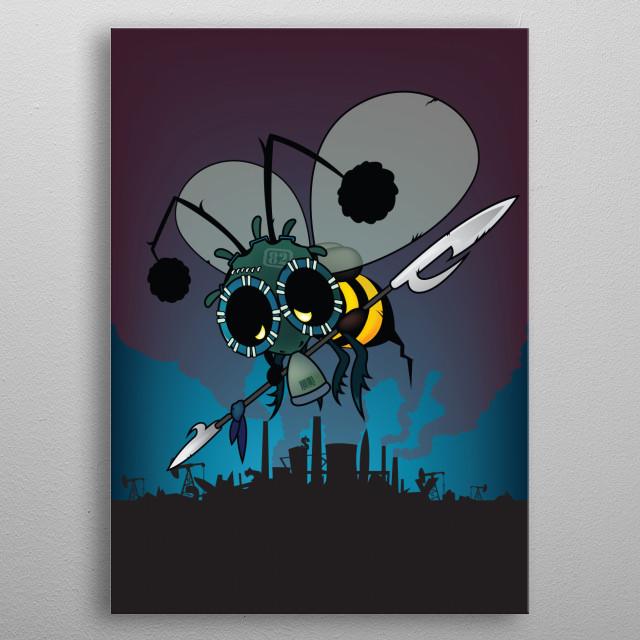 Nature warriors: The last honeybee metal poster