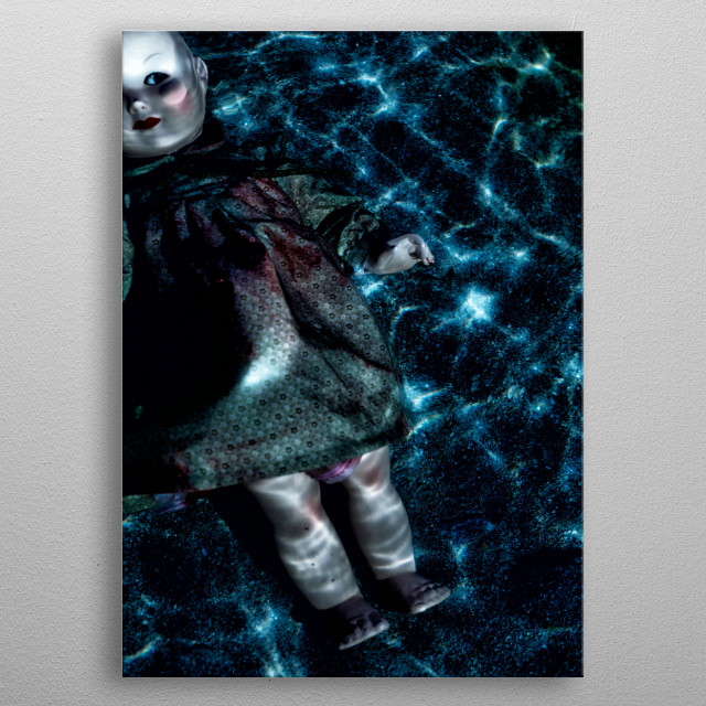 floating doll metal poster