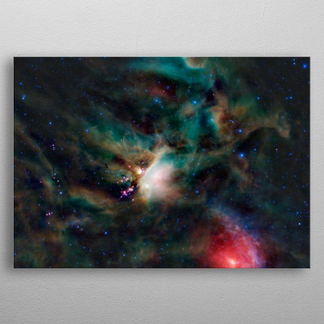 Rho Ophiuchi cloud complex metal poster