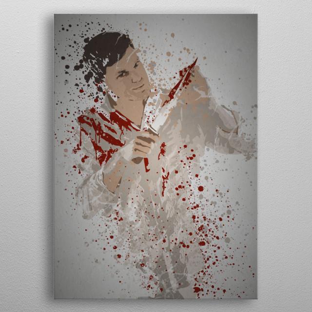 """Butcher"" Splatter effect artwork inspired by Dexter metal poster"