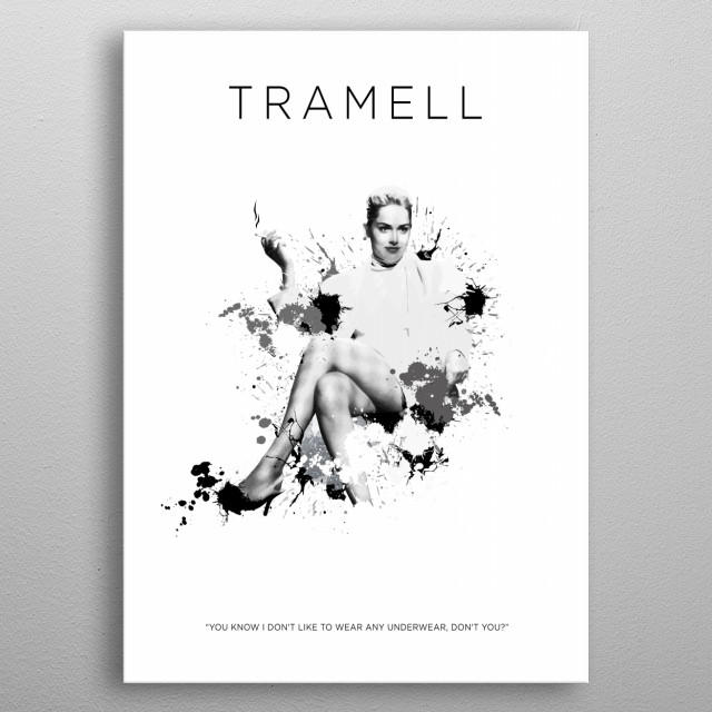 Catherine Tramell metal poster