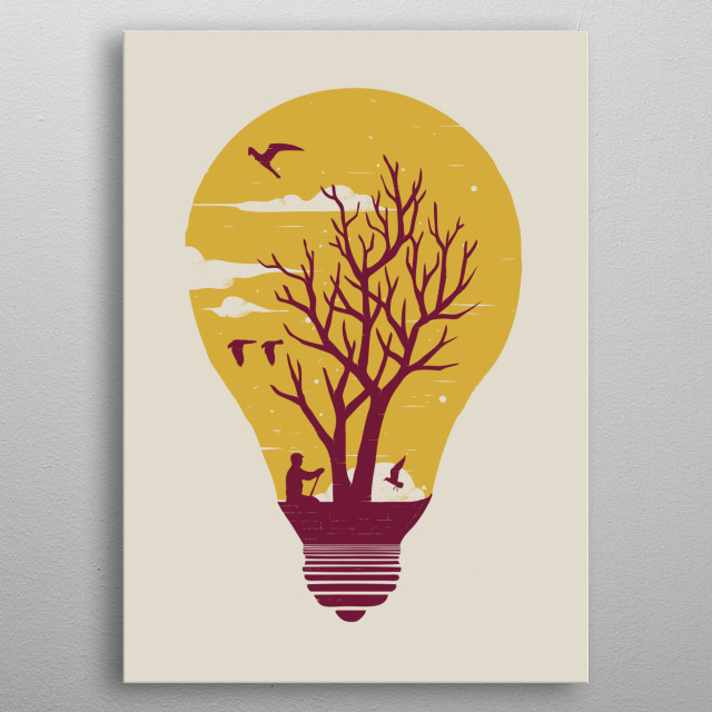 High-quality metal print from amazing Surreal collection will bring unique style to your space and will show off your personality. metal poster