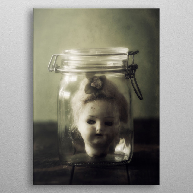 doll in a jar metal poster