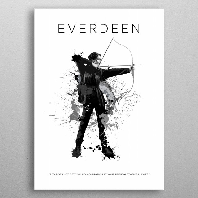 Katniss Everdeen metal poster