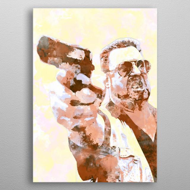 Walter - (2 of 5 in The Big Lebowski set) metal poster