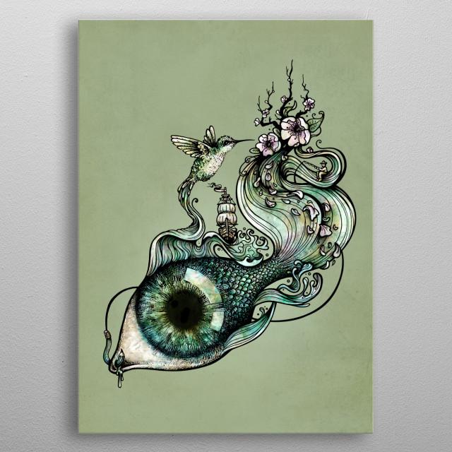Flowing Creativity metal poster