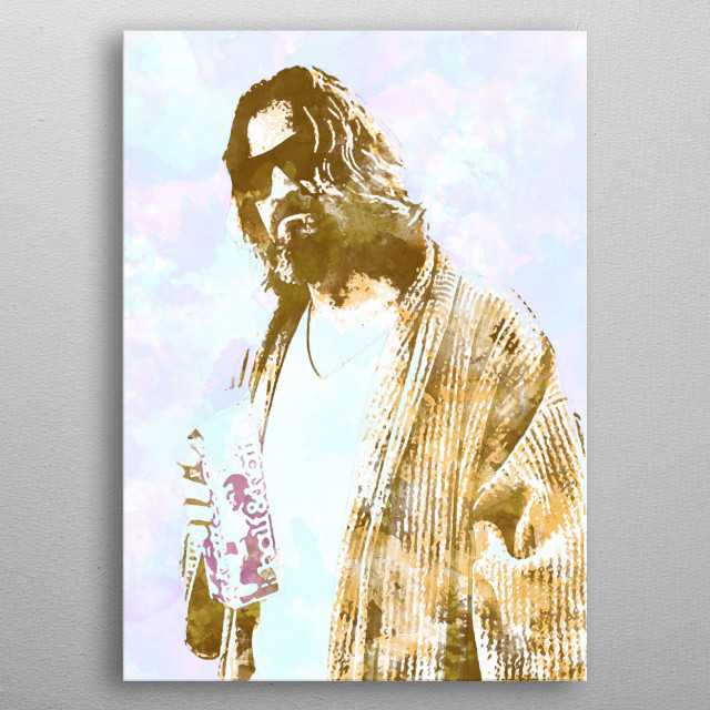 The Dude - (1 of 5 in The Big Lebowski set) metal poster