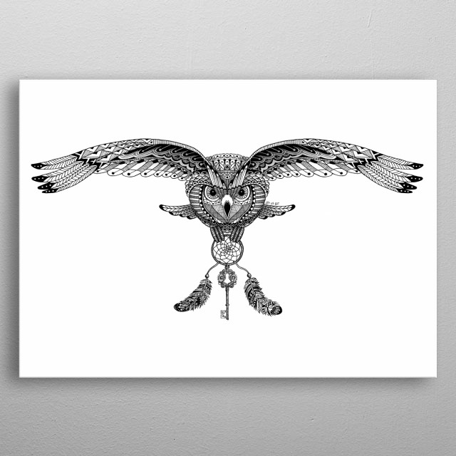 Owl And Dreamcatcher By Art Be Metal Posters Displate