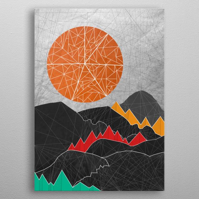 Geometric Landscape metal poster