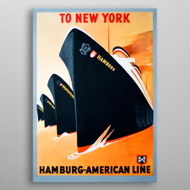 To New York metal poster
