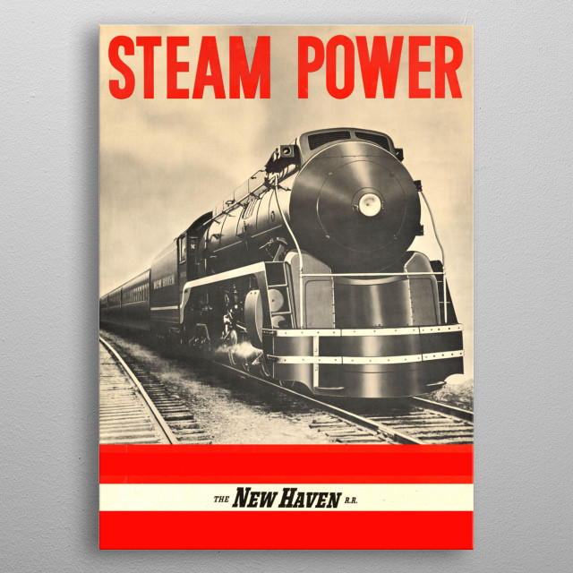 Steam Power metal poster