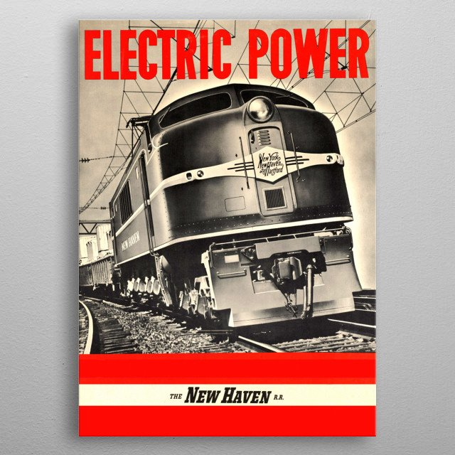 Electric Power metal poster