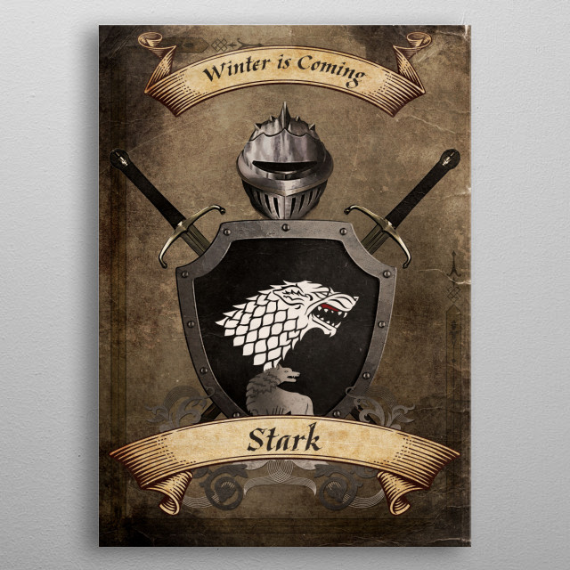 House of Stark metal poster