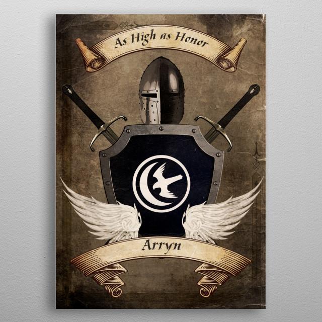 House of Arryn metal poster