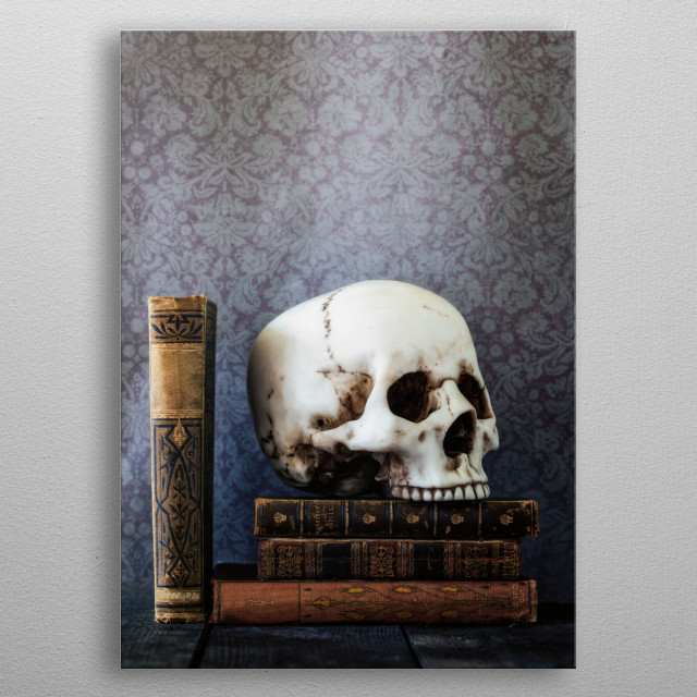 forgotten in the library metal poster