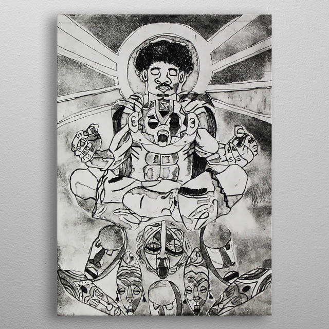 One with Africa metal poster