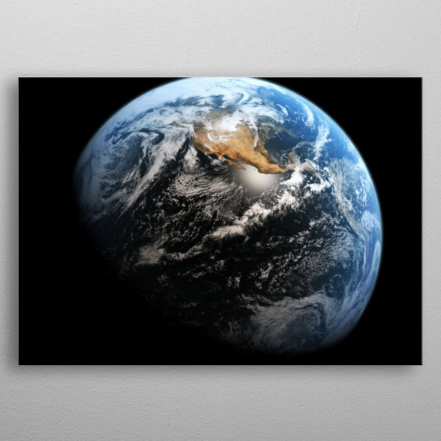 Blue Marble metal poster