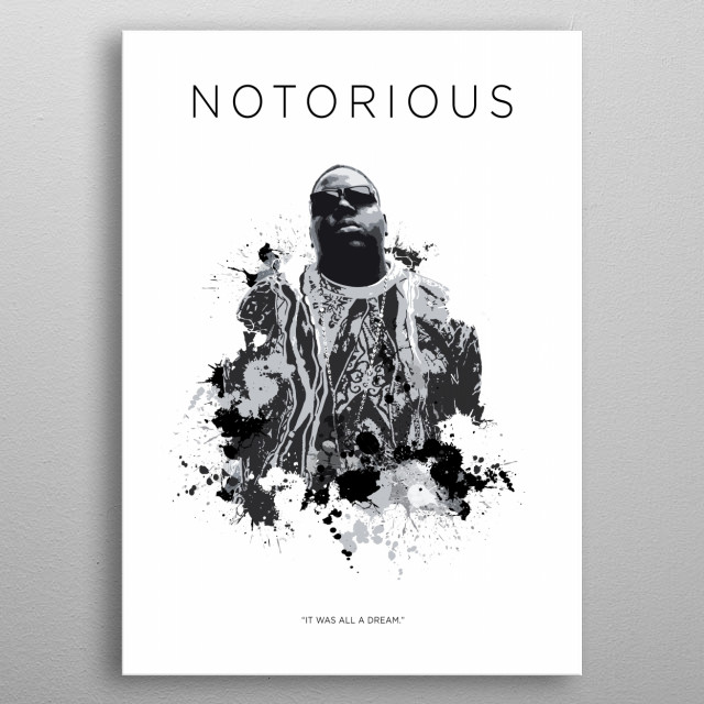The Notorious BIG metal poster