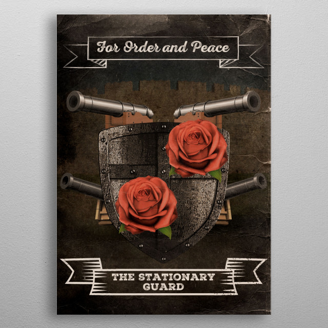 Be On Guard metal poster