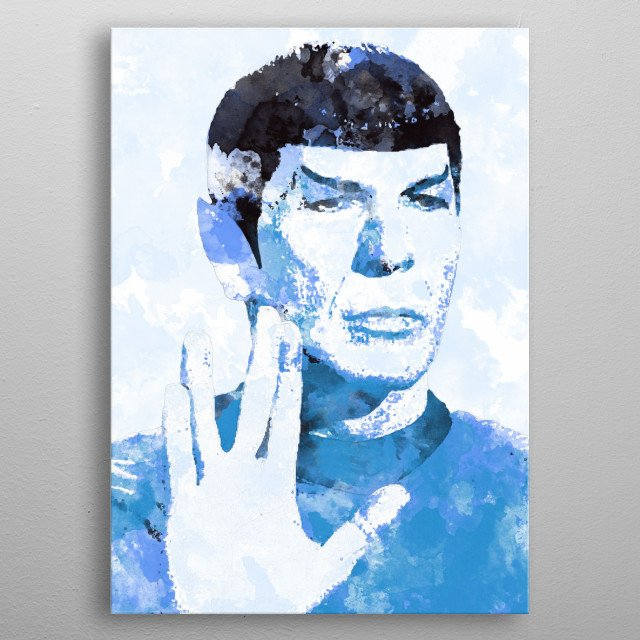 Spock (Leonard Nimoy) - A life is like a garden. Perfect moments can be had, but not preserved, except in memory.  LLAP - It is with heavy he... metal poster