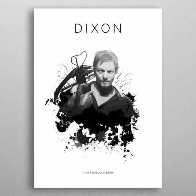 Daryl Dixon metal poster