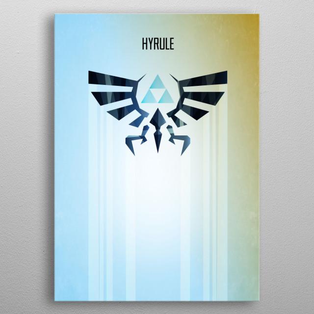 Hyrule Rising Minimal Vector Art Inspired by the Legend of Zelda gaming series. metal poster