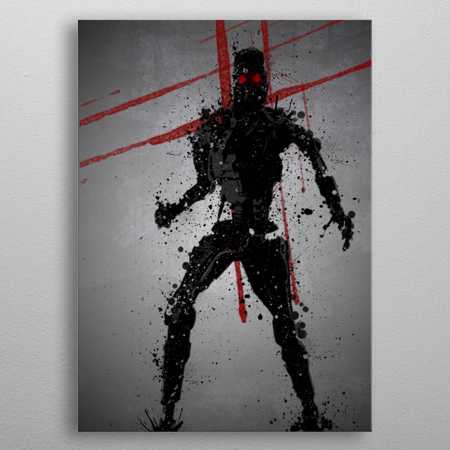 High-quality metal print from amazing Iconic Splatter collection will bring unique style to your space and will show off your personality. metal poster
