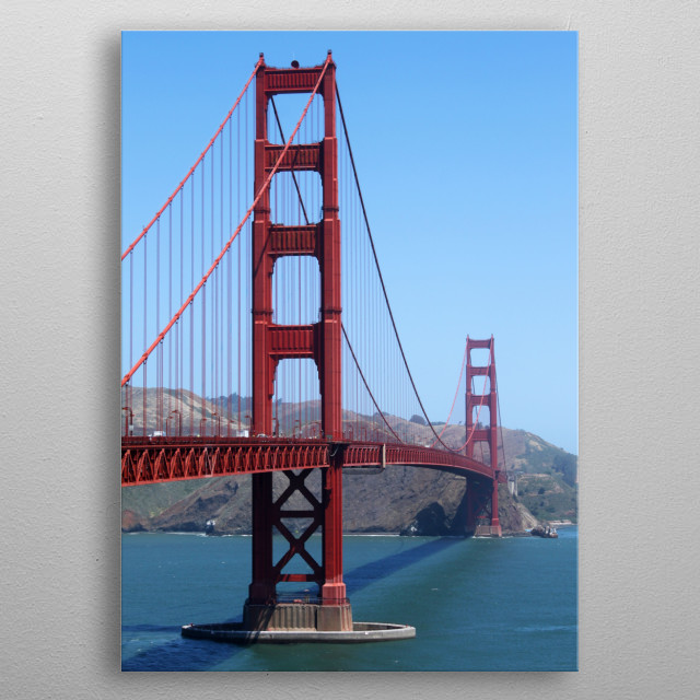 San Francisco Golden Gate metal poster