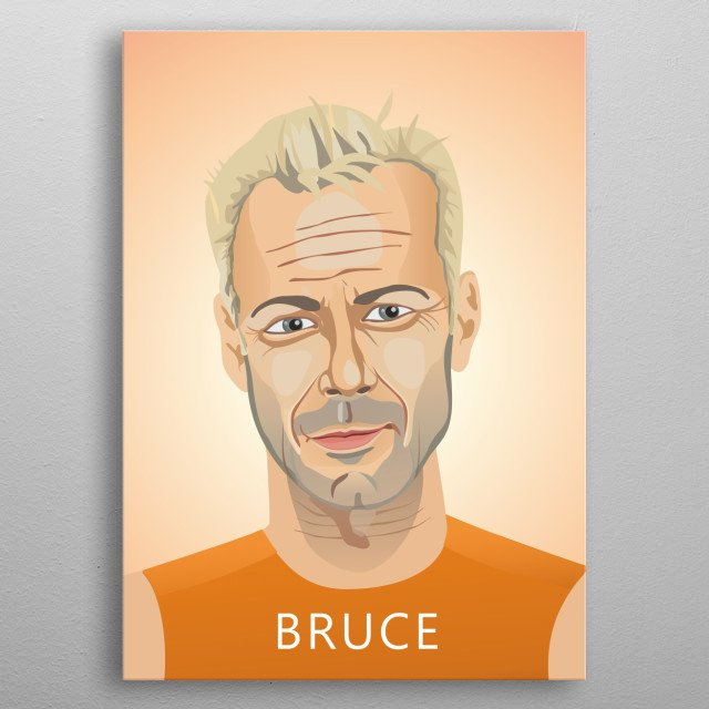 Bruce Willis, in The Fifth Element metal poster