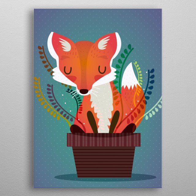 The fox in the pot metal poster