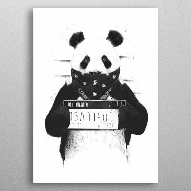 Bad panda metal poster