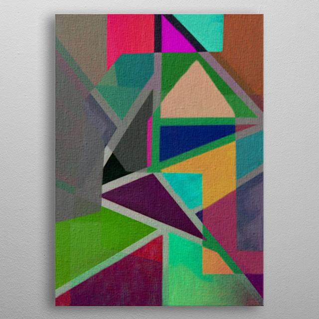 Complicerend Piet Mondriaan Abstract Poster Print Metal