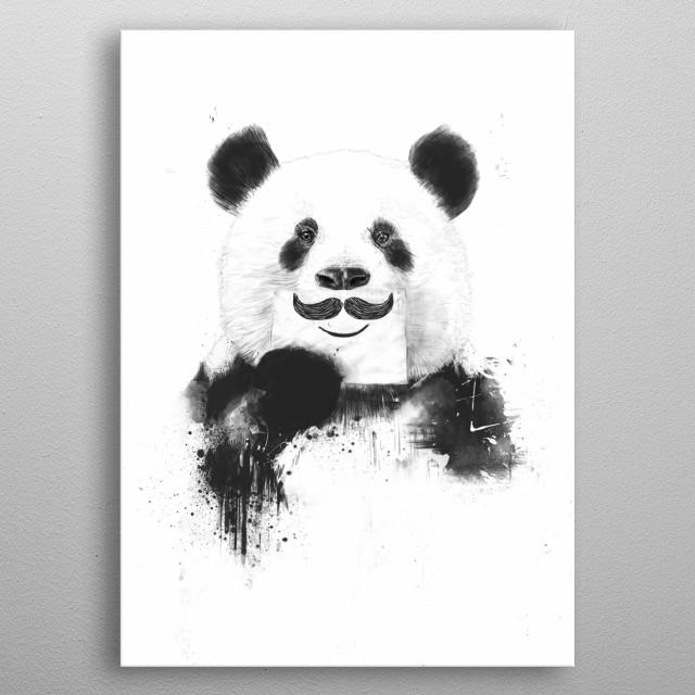 Funny panda metal poster